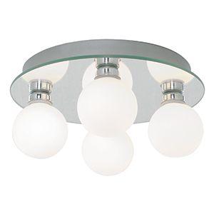Bathroom - stropné osvetlenie kúpeľne - chróm+sklo opál