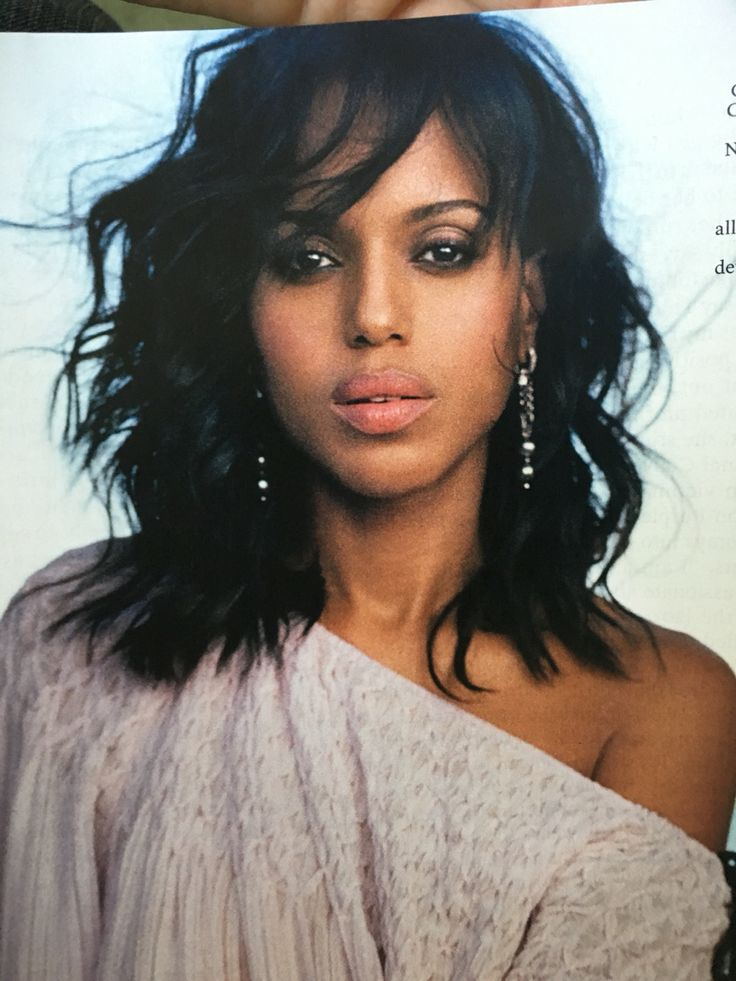 Kerry Washington's long wavy bangs are everything.