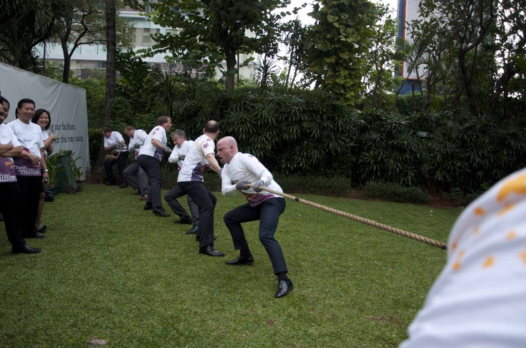 Tug of War group A #InterContinental #Jakarta #Celebrate #Service #Week