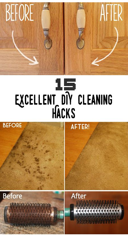 Top 15 Excellent DIY Cleaning Hacks (Nifty DIYs)