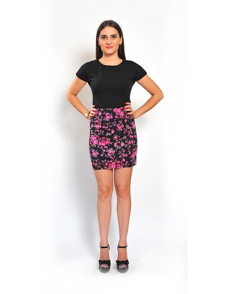 Zega Store - Fusta creion cu imprimeu floral - Femei, Fuste