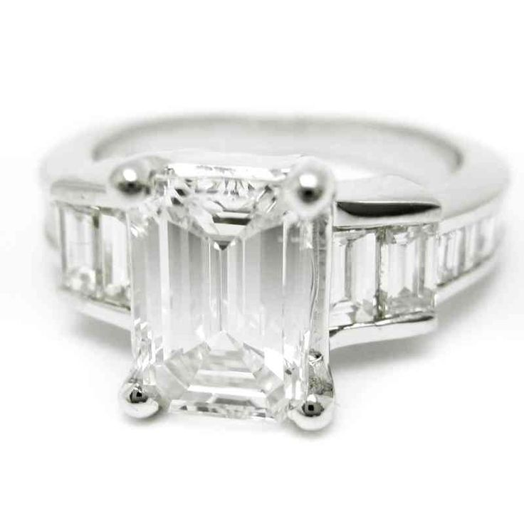 60 best Emerald Cut Engagement Rings images on Pinterest Emerald