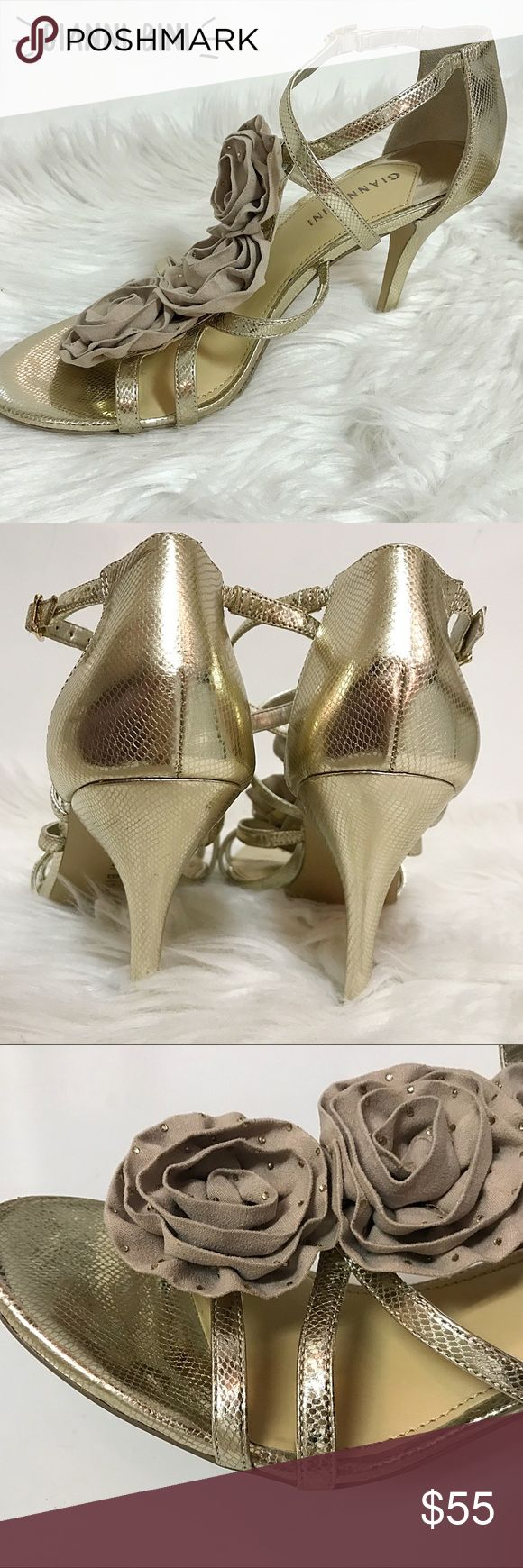 Gianni BINI Gold Snake Patterned Leather Heels New Gianni BINI Gold Snake Patterned Leather Heels New ~ NWOT Gianni Bini Shoes Heels