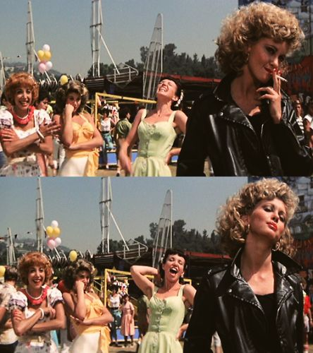 Grease-this was by far the best movie make-over in film history.
