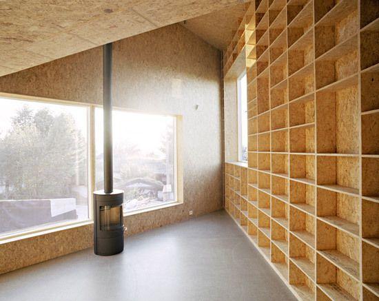 designer bucherregal osb platten design. Black Bedroom Furniture Sets. Home Design Ideas