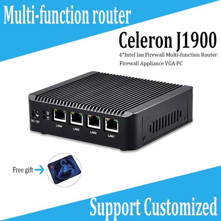 192.00$  Watch now  - Mini PC J1900 with 4 LAN port ,using  pfsense as small router,firewall FANLESS PC no noise,Low power design 10W