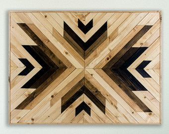 Reclaimed Wood Wall Art Southwestern Rustic by EthosWoodworks