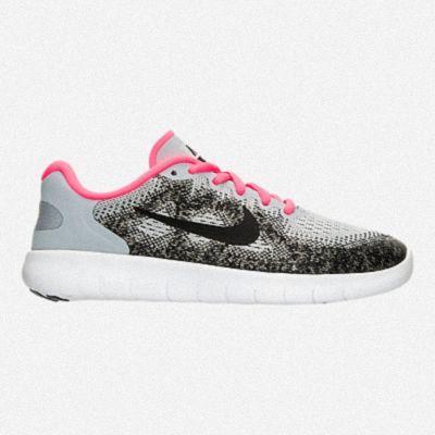 huge discount 12b82 3cd55 GIRLS GRADE SCHOOL NIKE FREE RN 2018 RUNNING SHOES 904258 001 Wolf Grey  Black Racer Pink