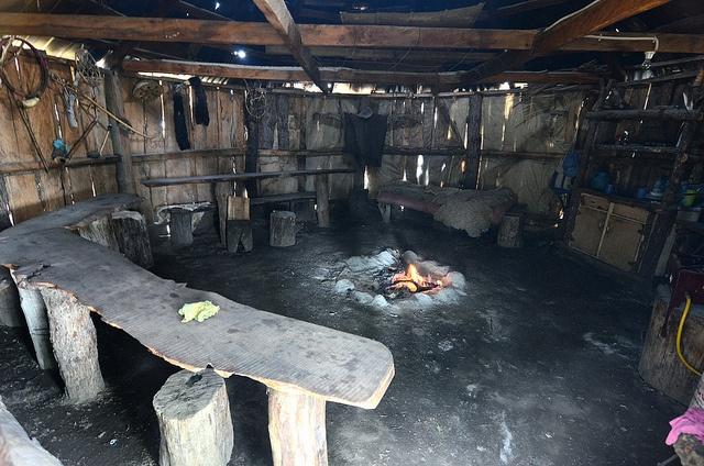 Inside a traditional 'La ruca' (traditional Mapuche dwelling) in Icalma, Araucanía Region by The Intrepid Monkeys, via Flickr // intrepidmonkeys.com