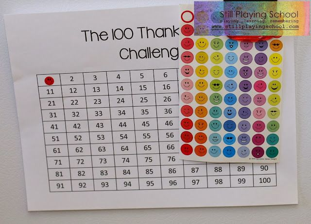 The 100 Thank You's Challenge free printable.  This is an awesome activity for keeping a thankful heart all year long!  #projectgratitude