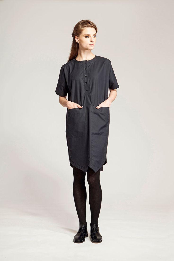 IMRECZEOVA FW16 black shirt dress