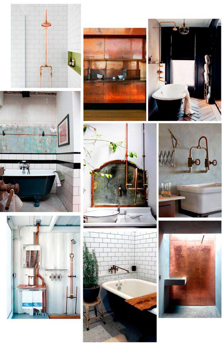 Vi älskar den rådande trenden med koppar i badrum. Här är snygga lampor i koppar som passar för badrum & gästtoalett och den industriella stilen!