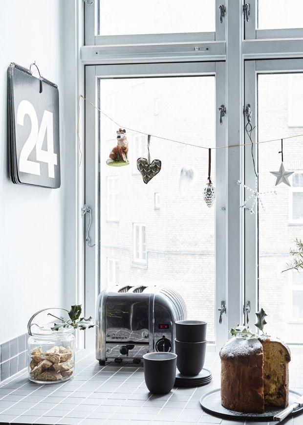 Grafisk julestemning i hjemmet   Mad & Bolig