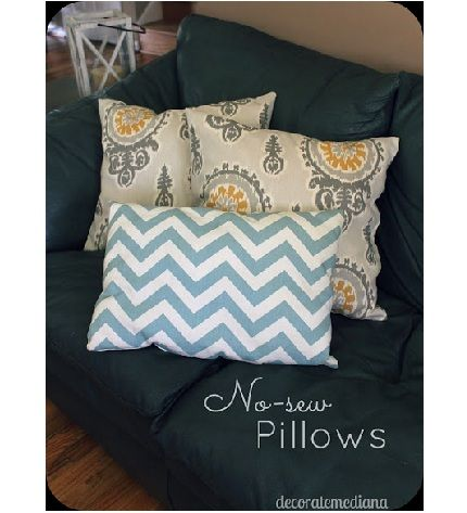Diy No Sew Pillow Covers