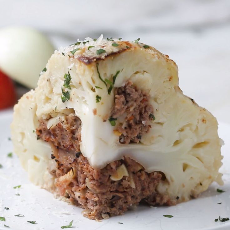 Low-Carb Stuffed Cauliflower