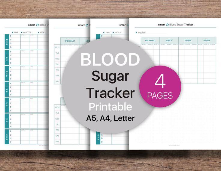 Blood Sugar Tracker | Blood Glucose Log | Health Planner | Medical Planner | PDF Printable, Instant Download - A4, A5, Letter. by Four36Studio on Etsy https://www.etsy.com/listing/537433977/blood-sugar-tracker-blood-glucose-log