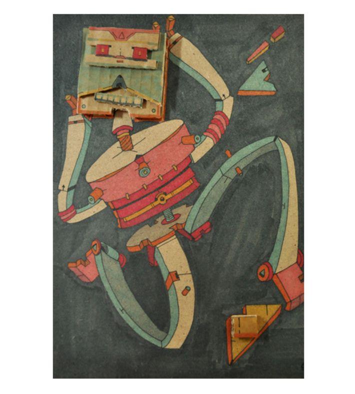 ORIGINAL WORK, signed. Acryclic paints, craft paper on mdf.  You can buy this original piece at www.artrebels.com #artrebels #art #originals