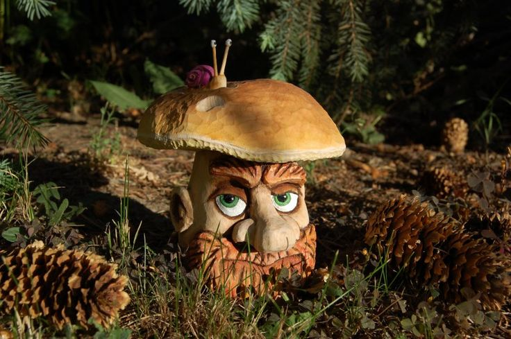 Wood Carving - Dědeček hříbeček ...  Řezbářství Hejkalíci - Tomáš Hejhal
