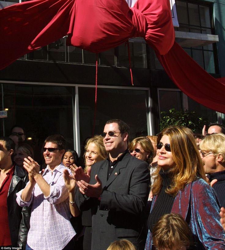 Tom Cruise, Kelly Preston, John Travolta and Kirstie Alley listen to actress Jenna Elfman ...