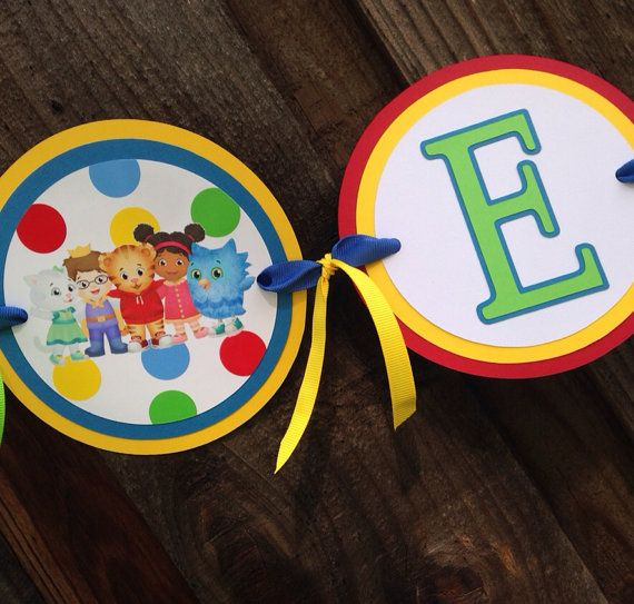 Daniel Tiger Birthday Party Decorations - Name Banner - Daniel Tiger Party