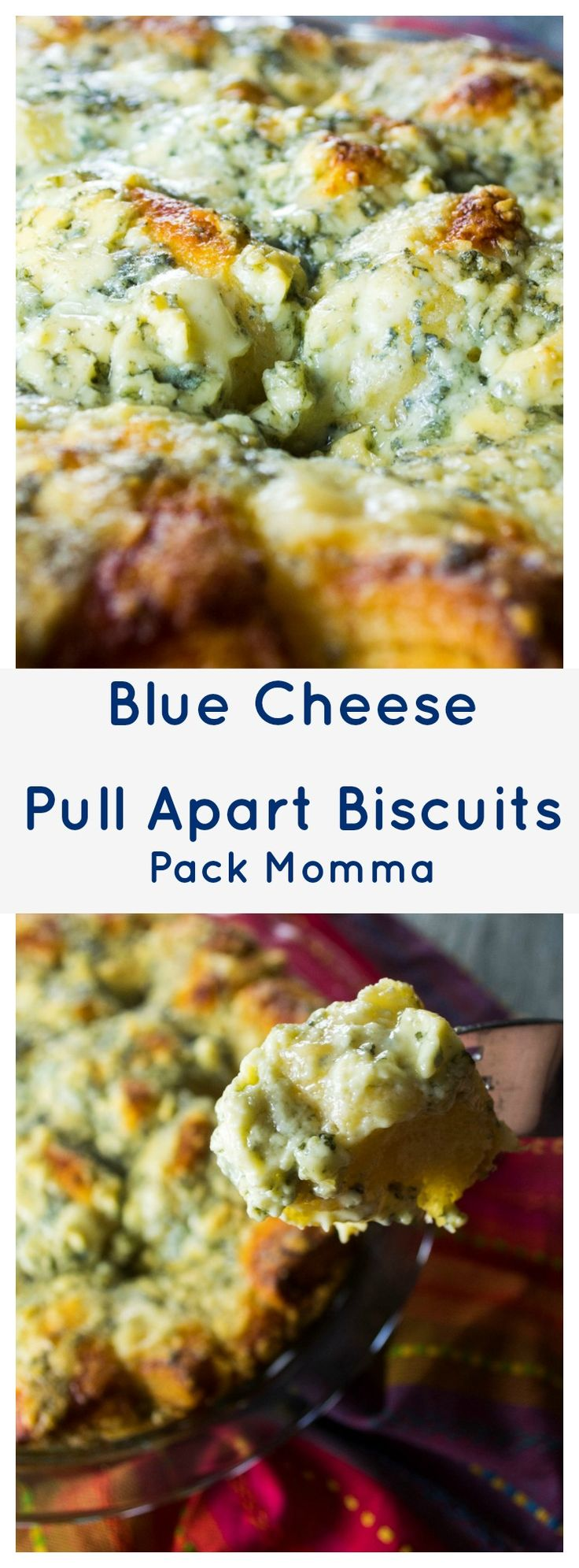 Blue Cheese Pull Apart Biscuits|Blue Cheese Pull Apart Biscuits is a hot, cheesy, bubbly appetizer that only has THREE INGREDIENTS! It's the perfect snack for your next social gathering | packmomma.com