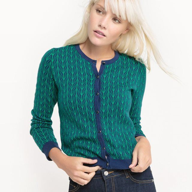 Cardigan manches longues, coton MADEMOISELLE R