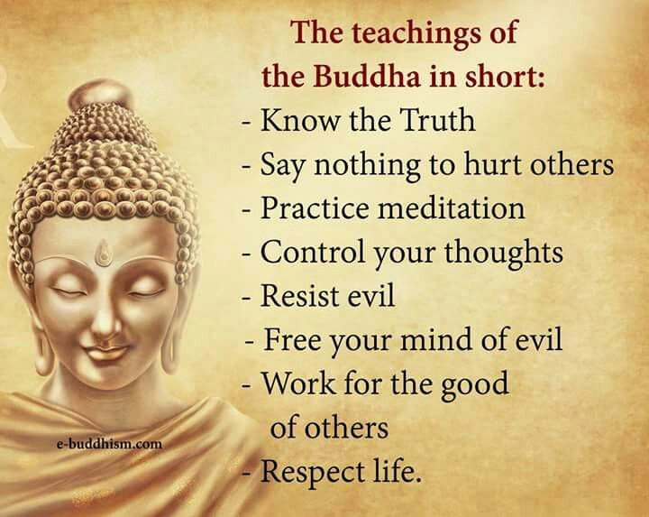Buddha, and the simple pleasures of life.