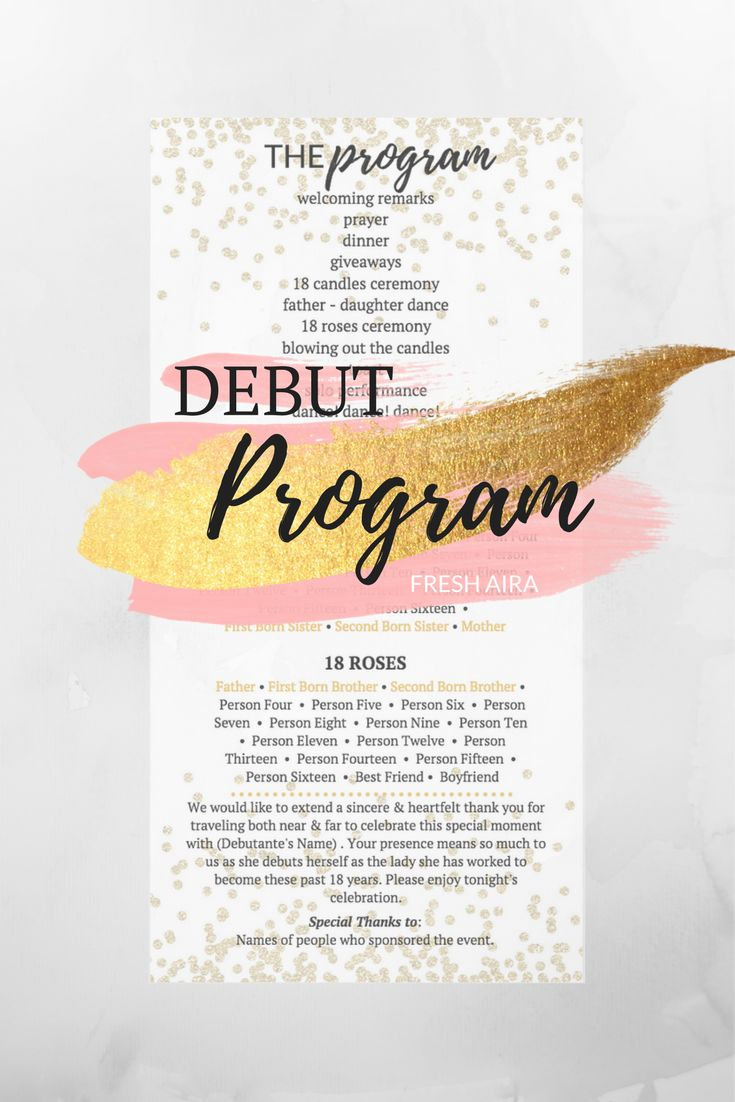 Read for more information on how we set up this Filipino Debut Program.