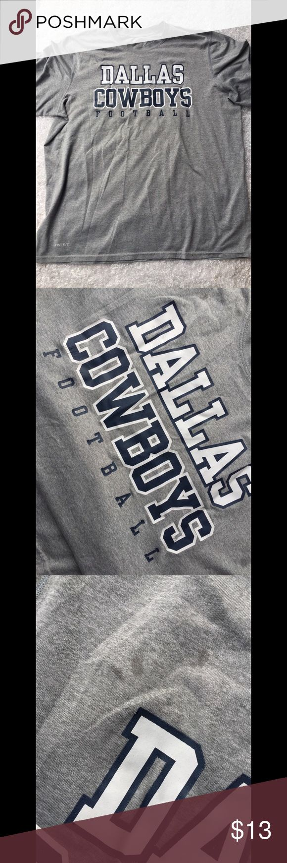 "Nike (XL) NFL Collection (Dallas Cowboys) Nike (NFL Collection) Size: XL Color: Grey/Blue/White Used GOOD Condition  *Small Marks On Top Of Letter ""D"" (Might Be Removed)* Nike Shirts Tees - Short Sleeve"
