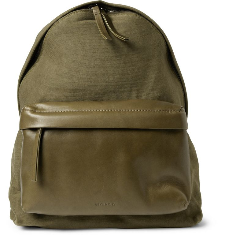 Givenchy Men s Leather and Jersey Backpack 4 1