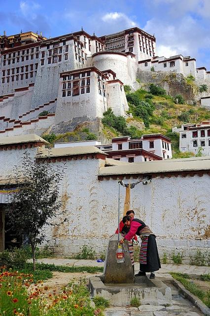 Potala Palace inner courtyard, Tibet by reurinkjan, via Flickr