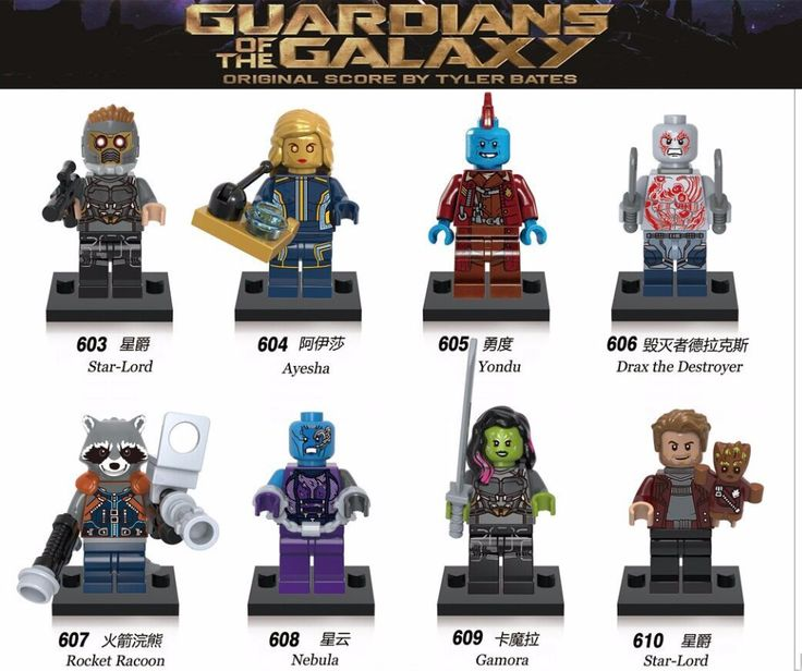 Single Sale Guardians of the Galaxy Star Lord Peter Quill Custom legoing Super Heroes Figure Building Block Toys Rocket Raccoon