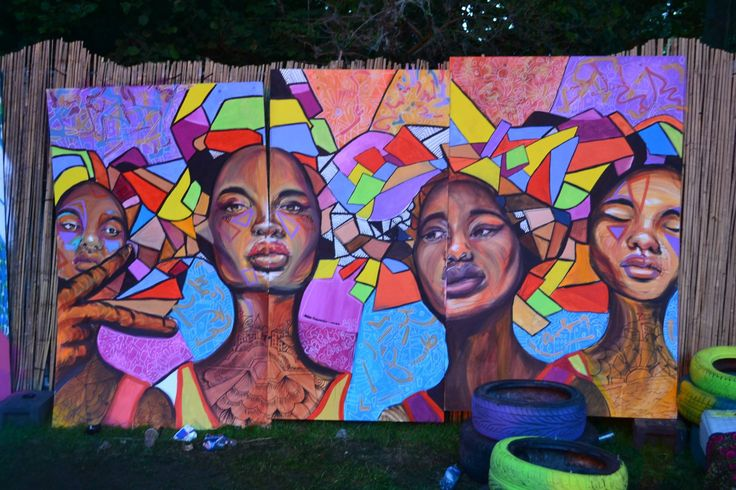 Amsterdam Open air event 2014, Live painting by Marlou Fernanda
