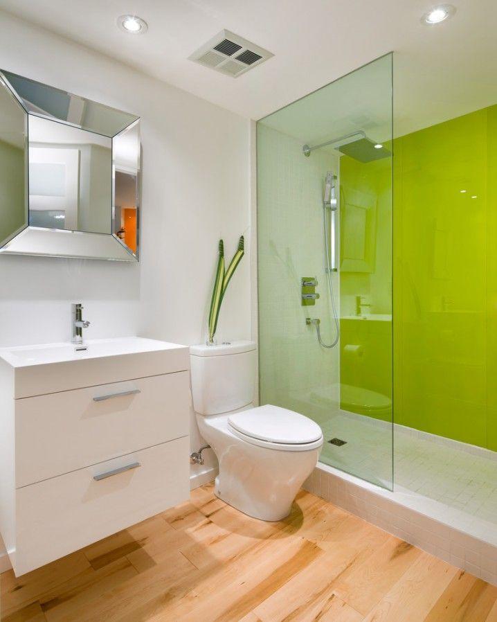 green bathroom with modern and cool design ideas - Lime Green Bath Decor