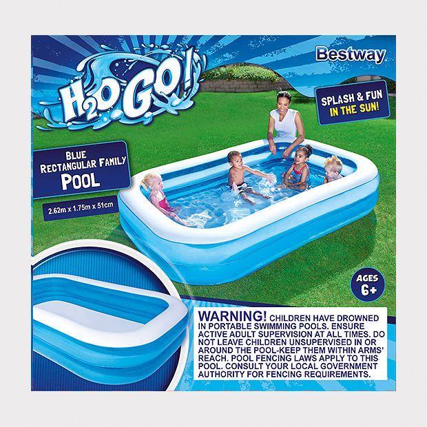 H2ogo Rectangular Family Pool Family Pool Portable Swimming Pools Pool