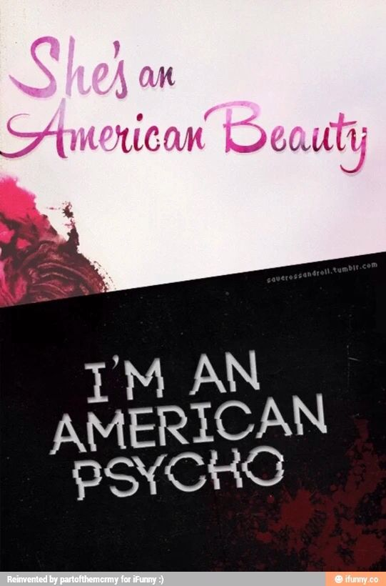 American beauty/American Psycho fall out boy