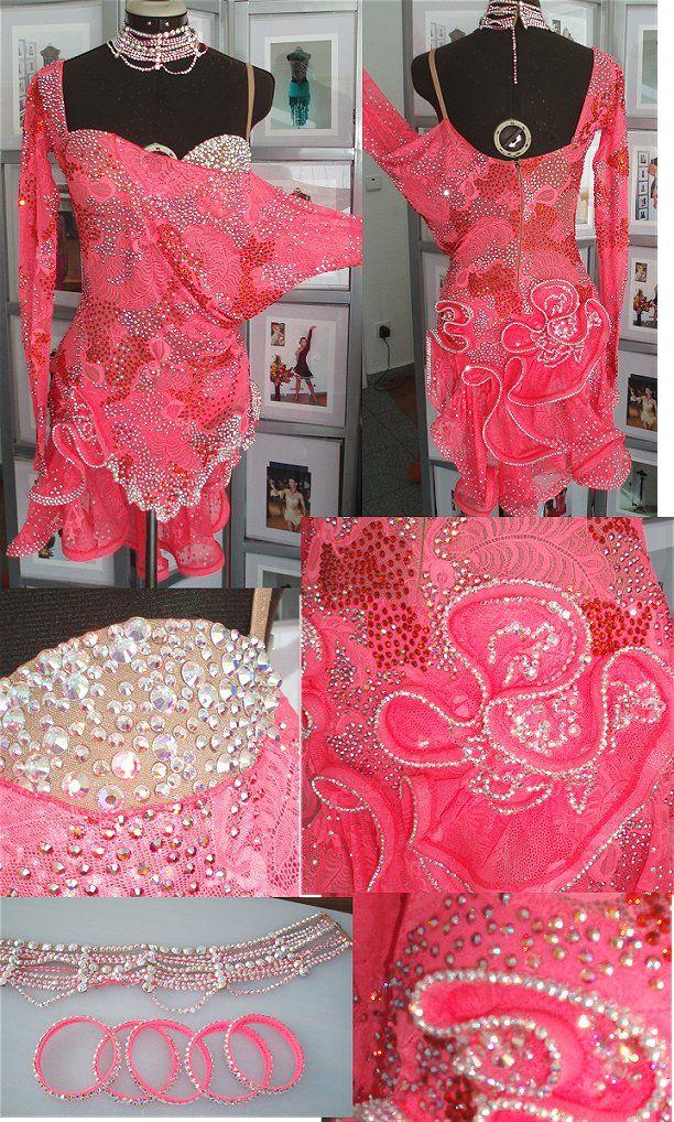 超超超ゴージャス!全身スワロフスキびっしりのタンゴレッドのラテンドレス!!   Atelier Casablanca -ダンスドレスの部屋- - 楽天ブログ