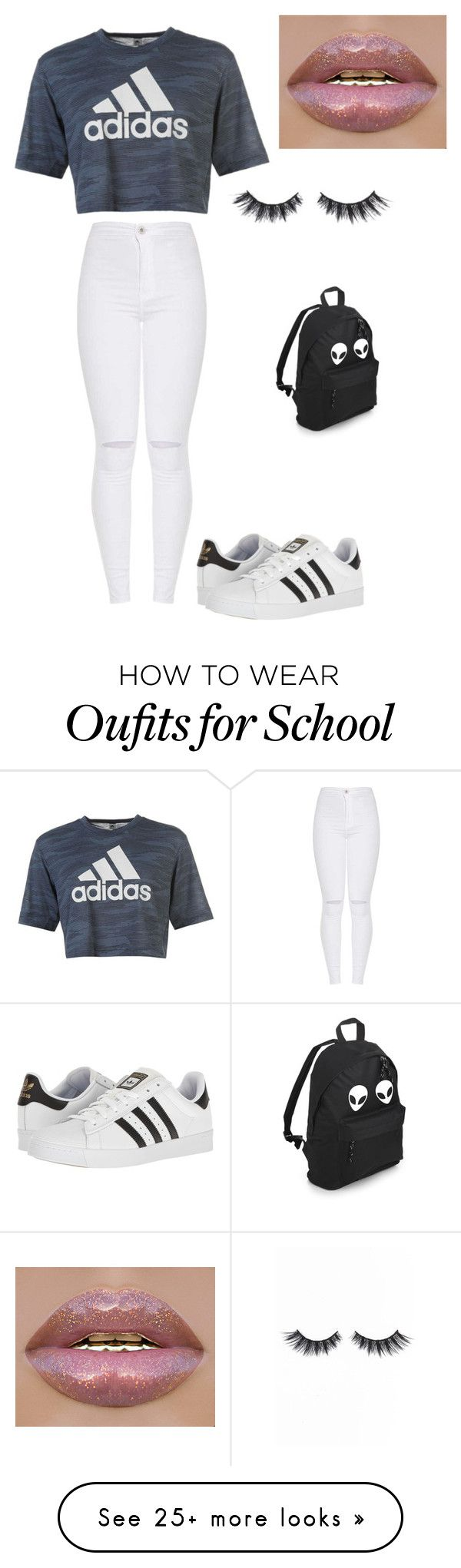 """Adida outfit"" by zowie-sandoval on Polyvore featuring adidas and Violet Voss"