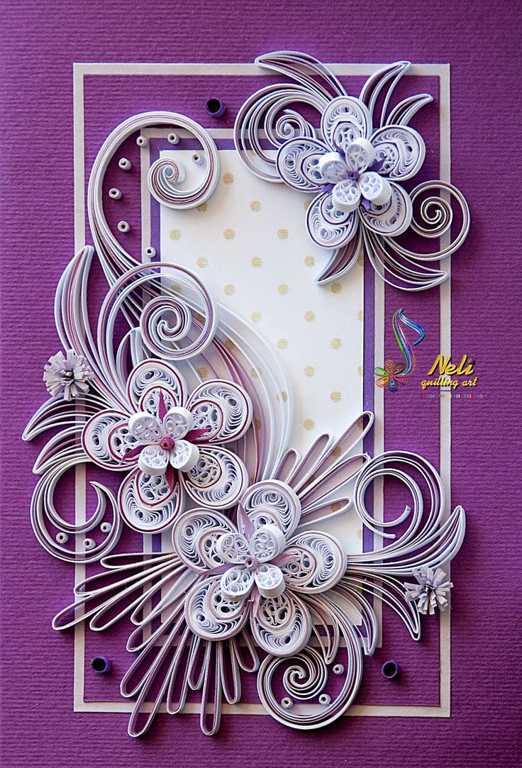 neli: Quilling card (14.8 cm - 10.5 cm ) and box