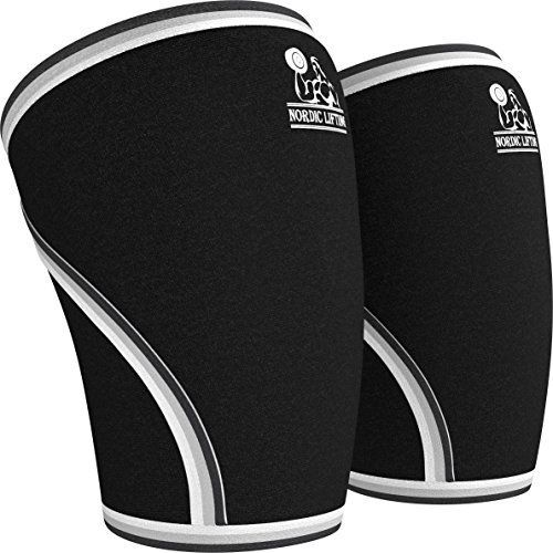 Nordic Lifting Unisex Knee Sleeves Medium - Black (1 Pair) - KNEE SLEEVES (1 PAIR) DESIGNED TO INCREASE YOUR PERFORMANCE AND PREVENT PAINFUL INJURY Nordic Lifting Offers Premium Accessories for Weightlifting Workouts - Carefully Crafted With Premium Quality 7mm Neoprene and Reinforced Stitching - Ergonomic Sleeve Design for Extra Comfort and the Perfect Fi...