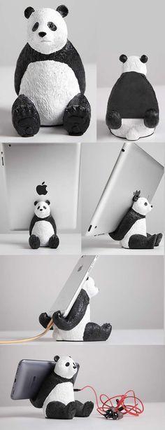 Cartoon Panda iPad Mobile Phone Charging Station Dock Holder