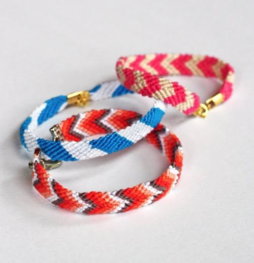 How to add clasps to friendship bracelets (from How About Orange)