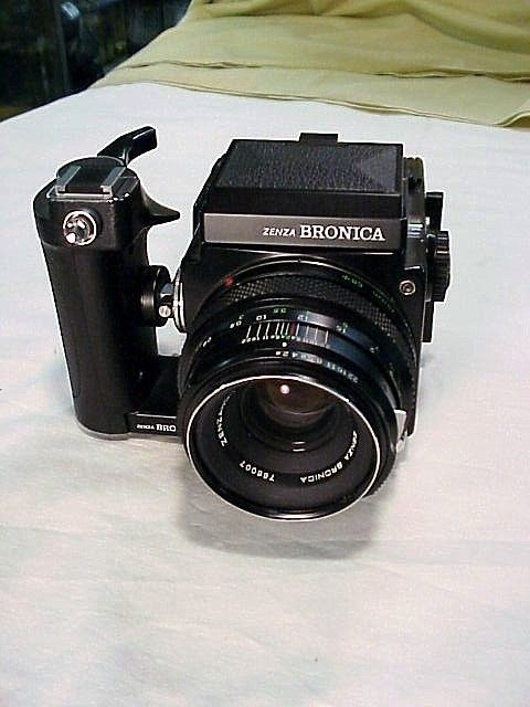 Bronica ETR w/ 75mm f2.8 and Advance Grip