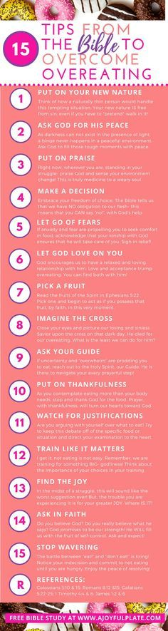 Biblical truths to set you free from overeating!
