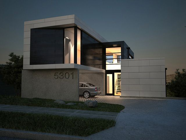 2700 Sq Ft Contemporary Box House Design