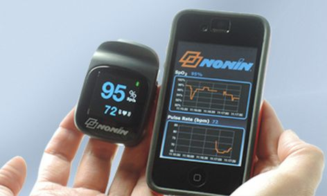 NoninConnect 3230 Bluetooth Smart Pulse Oximeter Pairs withiPhones, iPads