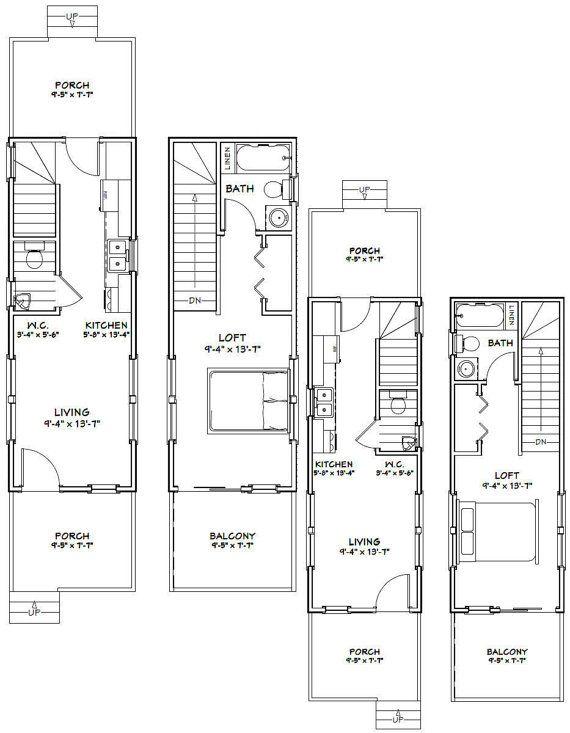 10 x 28 1-camera da letto 15-bagno piccole di ExcellentFloorPlans