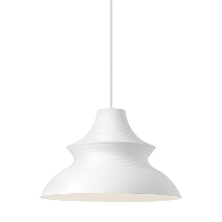Lbl lighting togan grande 19 watt white integrated led line voltage pendant