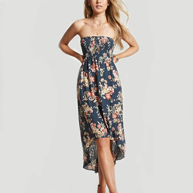 womens dresses wholesale clothing rayon print fashion korean party dress oem cheap strapless high low hem dresses summer woman
