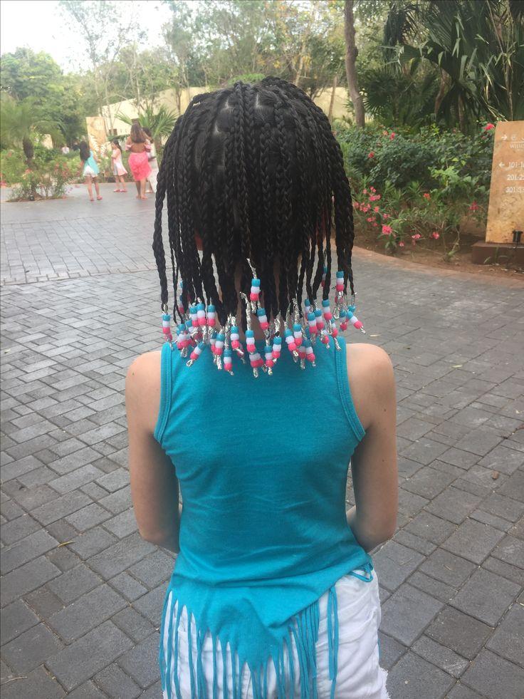Super cute corn braids.